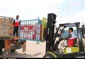 محموله 28 تنی جمعیت هلال احمر استان کرمان وارد اهواز شد