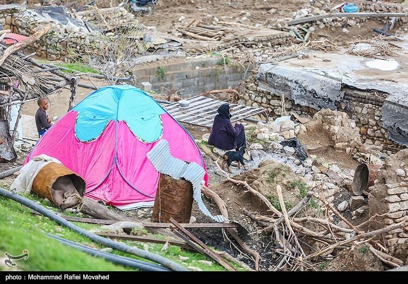خسارات سیل در روستای حیات الغیب - معمولان