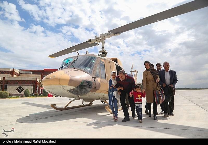 استقرار بالگردهای ارتش در مرز برای کمک به زائران اربعین