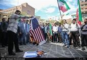 امریکی پابندیوں کے خلاف پورے ایران میں جلوس اور ریلیاں