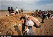 جهادگران اصفهانی با بردباری اقدام به بستن سیلبند در اهواز کردهاند