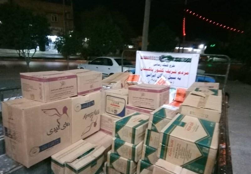 """گزارش تسنیم از اولین روز امداد رسانی تیم """"پاکستان ایرانیترین همسایه"""" به سیل زدگان خوزستان+تصاویر"""