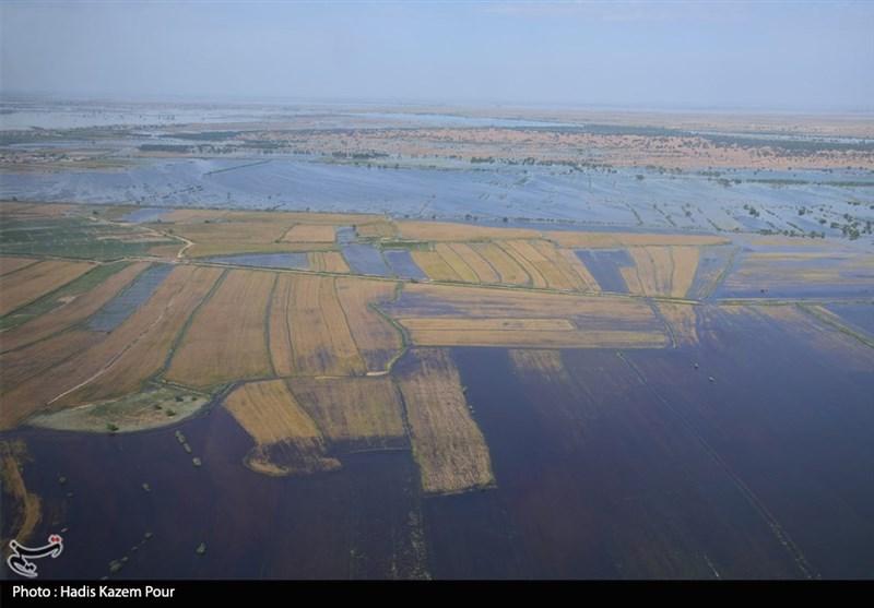 ۴۰ میلیارد متر مکعب آب در سیلاب اخیر وارد حوضههای آبریز، سدها و دشتهای خوزستان شد
