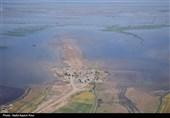 رصد مناطق سیلزده خوزستان توسط پهپادهای سپاه + فیلم