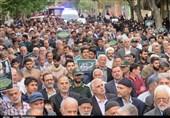 مردم استان سمنان در حمایت از بیانیه شورای عالی امنیت ملی راهپیمایی میکنند