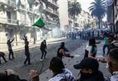 درگیریهای شدید بین پلیس الجزایر و معترضان