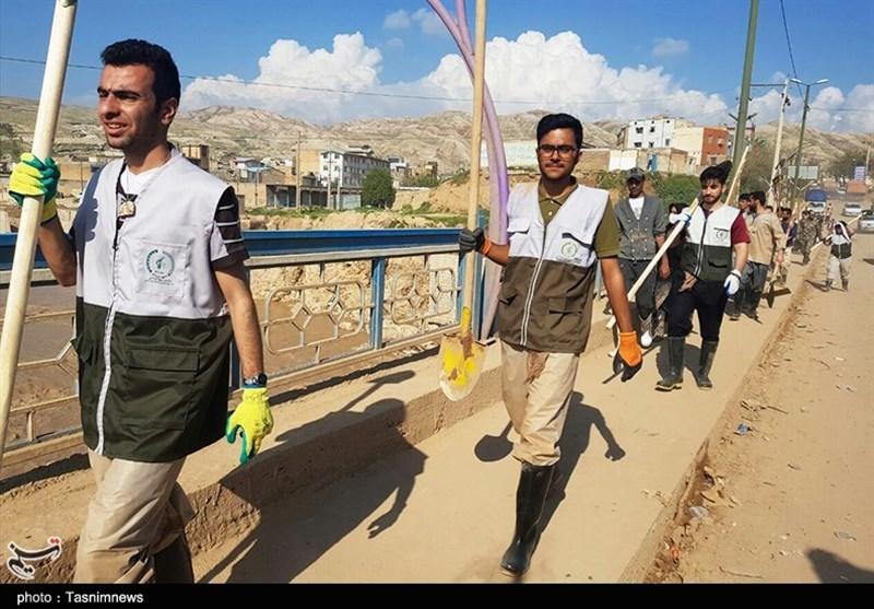 حضور دانشجویان بسیجی خراسان شمالی در پلدختر به روایت تصویر