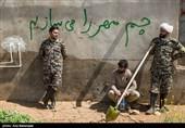 تلاش نیروهای جهادی و خادمیاران رضوی کرمانشاه جهت انتقال آب به روستای چممهر لرستان