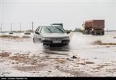 اصفهان| محور خور به طبس به علت سیلاب شدید تا اطلاع ثانوی مسدود شد