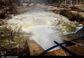 آب سد ساوه بعد از 26 سال سرریز کرد