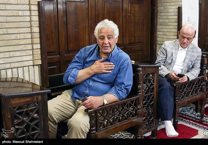 محمدرضا طالقانی رییس اسبق فدراسیون کشتی در مراسم ترحیم مرحوم جمشید مشایخی
