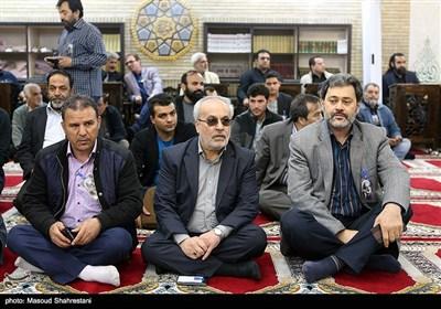 رضا پورحسین قائم مقام معاون سیما در مراسم ترحیم مرحوم جمشید مشایخی