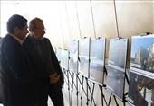 بازدید لاریجانی از نمایشگاه عکس سیل لرستان + عکس