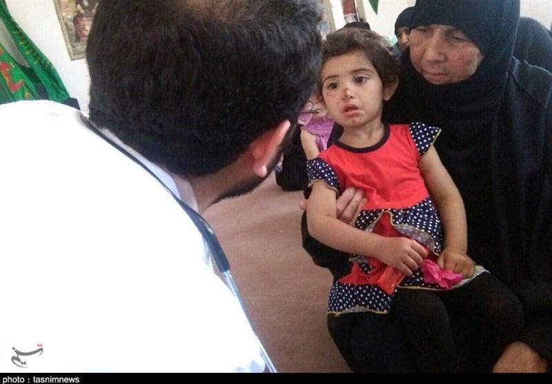 امدادرسانی پزشکی تیپ نیروی مخصوص میرزا کوچک سپاه به سیلزدگان خوزستان + تصاویر