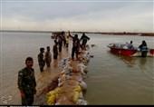 اعزام گروه جهادی شهرستان مسجدسلیمان به اهواز جهت ساخت سیلبند در عین 2
