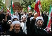 تجمع طلّاب حوزه علمیه تهران در حمایت از سپاه