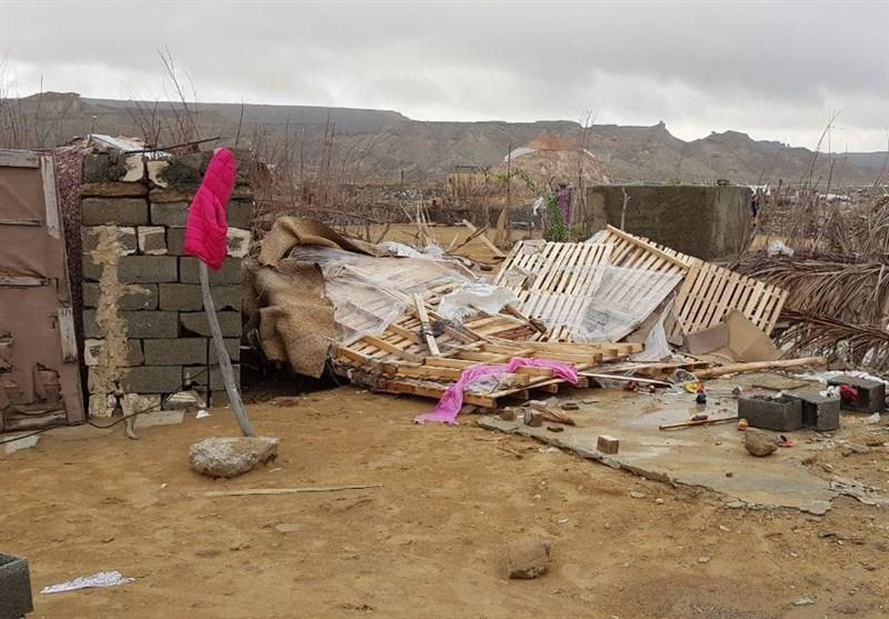 گزارش ویدیویی تسنیم از خرابیهای طوفان و بارش چابهار؛ حداقل 100 کپر حاشیه تخریب شد