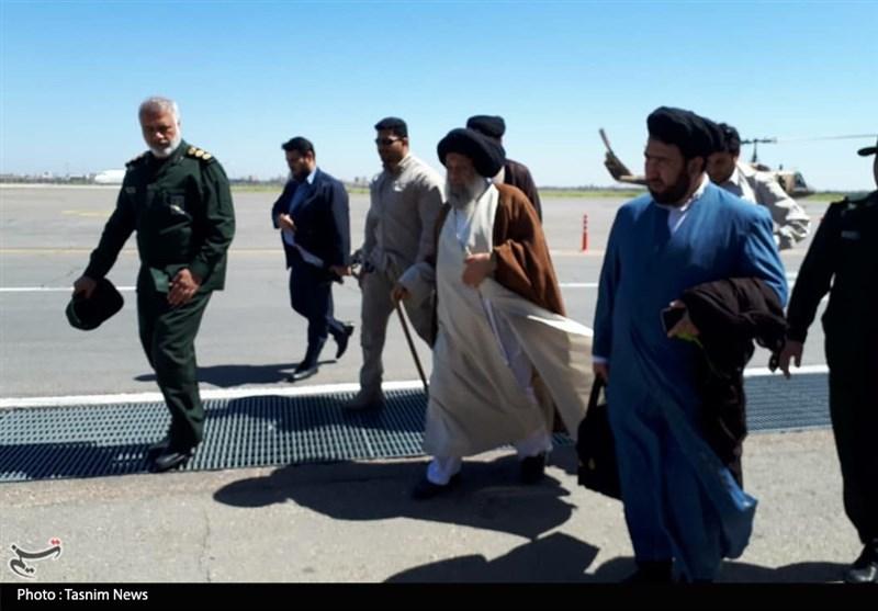 بازدید هوایی آیتالله موسویجزایری از مناطق سیلزده خوزستان