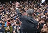 رئیس جمهوری اوکراین تنها به صحنه مناظره رفت
