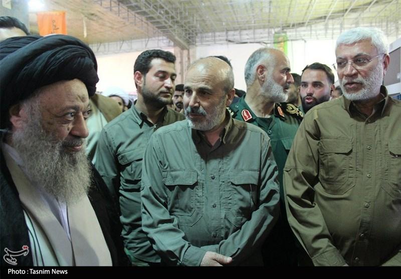 مسئولان حشد الشعبی در ستاد مردمی حمایت از سیلزدگان خوزستان حضور یافتند + تصویر