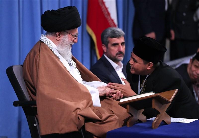تلاوت قاریان و حافظان مسابقات بینالمللی قرآن در حضور رهبر انقلاب + صوت
