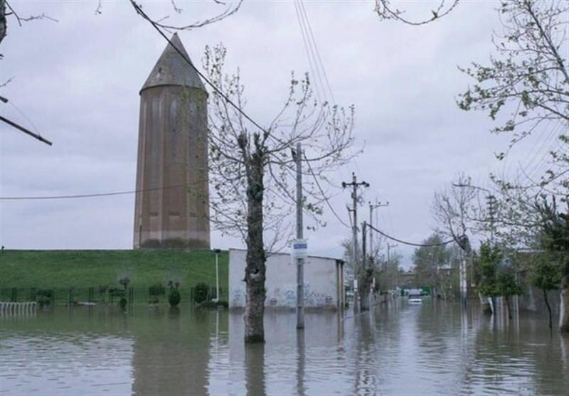 سیل 100 میلیاردریال خسارت به بناها و آثار تاریخی گلستان وارد کرد