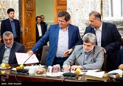 عبدالناصر همتی رئیس کل بانک مرکزی ایران در جلسه مشترک دولت و مجلس با موضوع حمایت از تولید ملی