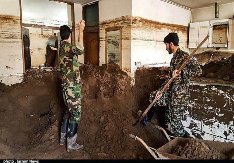 سپاه کار را در پلدختر تمام کرد؛ تحویل منازل پاکسازی شده از گلولای به مردم + فیلم