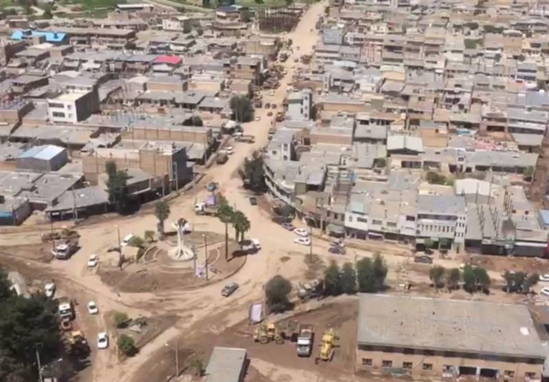 جدیدترین تصاویر هوایی از شهر سیلزده پلدختر + فیلم