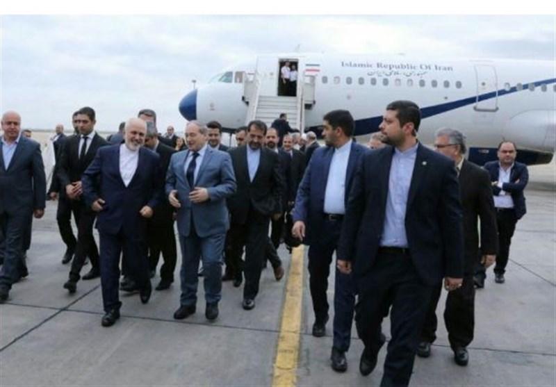 ظریف وارد فرودگاه دمشق شد