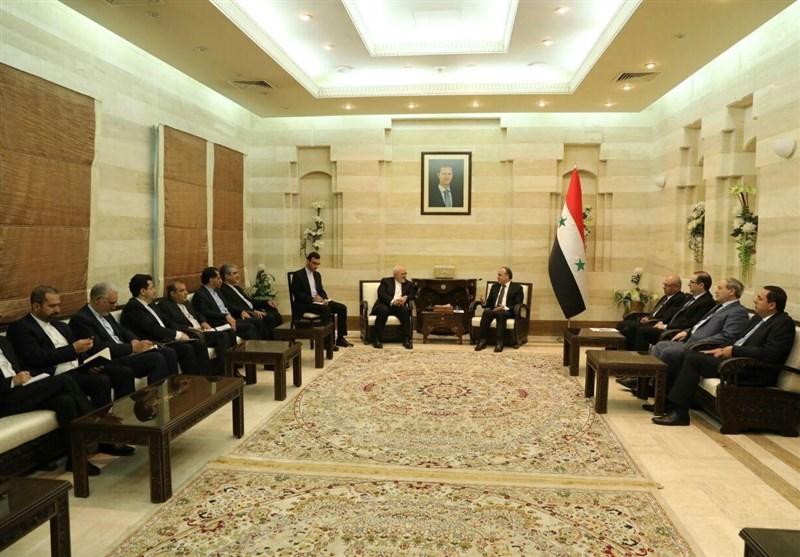 ظریف با نخستوزیر سوریه دیدار کرد