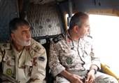 پایش هوایی معاون امنیت ستاد کل نیروهای مسلح از مناطق سیلزده خوزستان
