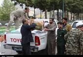 ارسال محموله کمکهای سپاه ناحیه ایلام به سیل زدگان + تصاویر