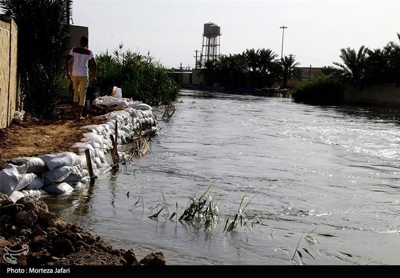 خوزستان| ورود نیروهای جهادی به روستای صراخیه شادگان + فیلم