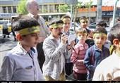 جشن خیابانی به ابتکار دانشآموزان دبستان رفاه+عکس و فیلم