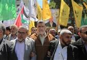 """راهپیمایی روز اسیر فلسطینی در غزه؛ پیام اسیران در """"نبرد کرامت 2"""""""