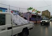 رژه امدادی ارتش در خرمآباد برگزار شد