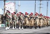 مراسم رژه نیروهای مسلح خراسان رضوی در مشهدمقدس آغاز شد