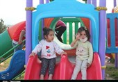 کودکان سیلزده پلدختر در قاب لبخند+ تصاویر