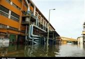 تاسیسات شرکت توسعه نیشکر در خوزستان زیر آب رفت+ تصاویر
