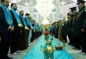 غبارروبی مسجد مقدس جمکران توسط اصحاب رسانه قم و تهران