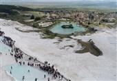 زیبایی طبیعی پاموک قلعه در ترکیه + عکس