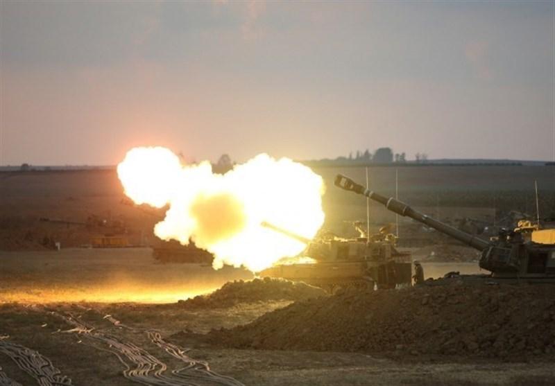 حمله توپخانهای ارتش رژیم صهیونیستی به غزه