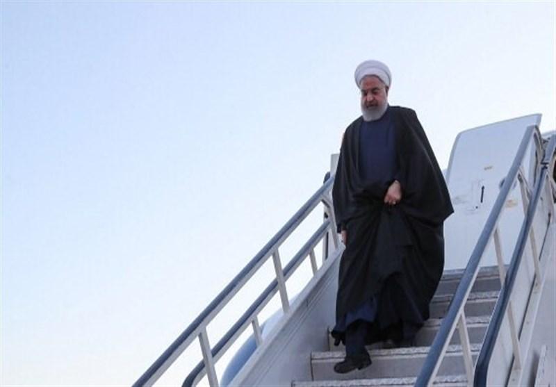 رئیس جمهور وارد خوزستان شد؛ دومین سفر روحانی برای بررسی شرایط مناطق سیلزده 