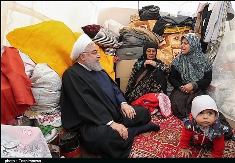 رئیس جمهور از مناطق سیلزده پلدختر بازدید کرد