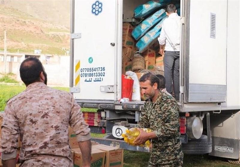 امدادرسانی نُجَباء در روستاهای زیرآبرفته ایلام و لرستان + تصاویر