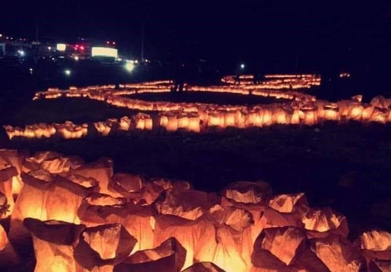 إضاءة 22 ألف شمعة فی مدینة السلط الاردنیة نصرة للقدس+صور