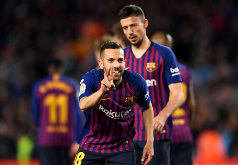 فوتبال جهان|بارسلونا با پیروزی خانگی در فاصله 6 امتیازی فتح لالیگا قرار گرفت