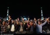 مراسم احیای نیمه شعبان در مسجد مقدس جمکران برگزار شد