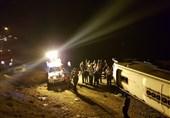 4 مجروح بر اثر واژگونی اتوبوس در محور بروجرد ـ نهاوند
